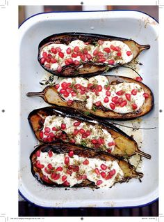 Aubergine with Buttermilk Sauce - The Happy Foodie