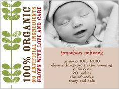 100 Percent Organic 4x5 Stationery Card by Demby + Solomon | Shutterfly