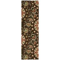 """Nourison Suzani SUZ02 Hand-tufted Area Rug - On Sale - Overstock - 7599401 - 2'3"""" x 8' Runner - Teal Teal Rug, Rectangle Area, Wool Runners, Area Rugs For Sale, Area Rug Sizes, Hand Tufted Rugs, Brown Rug, Red Accents, Fashion Room"""