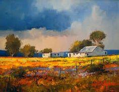 Landscape Artwork, City Landscape, Contemporary Landscape, Landscape Illustration, Cool Landscapes, Contemporary Artists, South African Artists, Africa Art, Acrylic Art