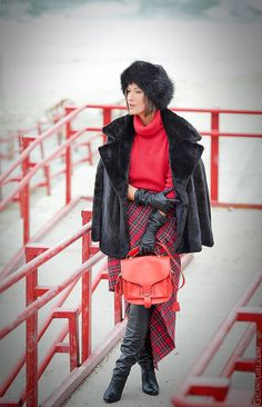 tartan skirt, christmas mood outfit, galant girl, opening ceremony bag, @Galant Girl
