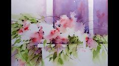 'Window Box' Transparent Watercolor Negative Painting Demonstration