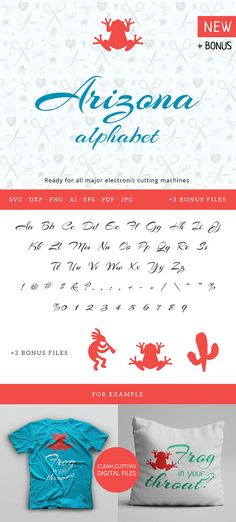Joining script Arizona alphabet Cuttable svg dxf png pdf eps jpeg ai for…