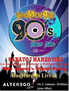 La band che ripercorre le hits che han fatto ballare e innamorare negli anni 90, per una serata a tema tutta anni 90!! http://www.vetrinesulweb.net/it/component/jevents/icalrepeat.detail/2015/03/07/1017/-/onemore90s-live-milano.html