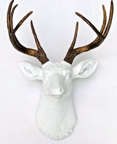 Gold Faux Deer Head Mount. Because Everything Is Better In Gold. Even Deer.  | Home Inspiration | Pinterest | Faux Deer Head, Gold And Antlers