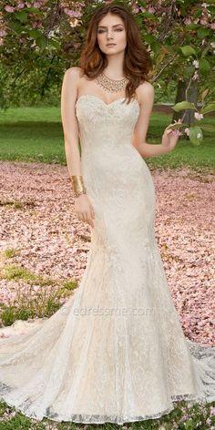 Beaded Applique Lace Wedding Dresses by Camille La Vie #edressme