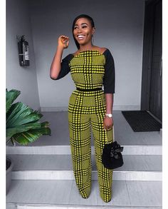 e1cfe5dae3 Collection of the most beautiful african ladies ankara jumpsuit styles.  These are the best and most beautiful jumpsuit ankara styles you can ever  have