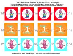 Backyardigans cupcake topper | ... Shop* The Backyardigans Printable Party Invitation and Cupcake Toppers