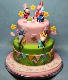 Peppa Pig and Friends - by Stef and Carla (Simple Wish Cakes) @ CakesDecor.com - cake decorating website
