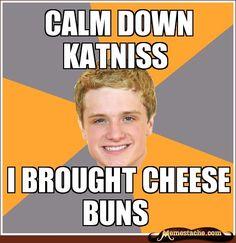 Peeta, I'll take your cheese buns any day. <3 <3 <3
