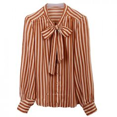 $28.20Striped Bowkont Collar Blouse