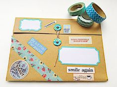 The Lost Art of Letter Writing...Revived!: Snail Mail Folder Makes GREAT Happy Mail