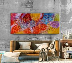 Paintings for Sale - Jackson Pollock Style Paintings #Paintings #AbstractArt #ContemporaryArt #ModernPaintings #AbstractArtSale #PaintingForSale #PaintingOnline Abstract Art For Sale, Abstract Canvas Art, Oil Painting Abstract, Acrylic Art, Jackson Pollock Art, Pollock Paintings, Drip Art, Decoration, Artwork
