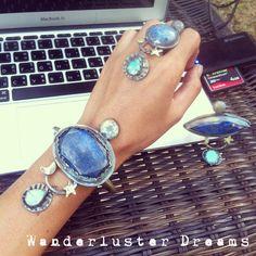 In my universe bracelet! Big chunky lapis lazuli