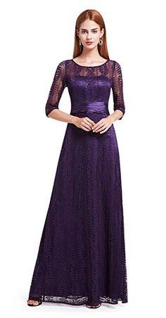 2ed87d937aa Ever Pretty Women s Elegant Lace Half Sleeve Long Evening Party Dress  08878  Amazon.com.au  Fashion