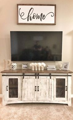 Adding an appealing picture frame to a gallery wall that includes a tv can distract from the overall attention of the tv set. Living Room Remodel, New Living Room, Apartment Living, Living Room Decor, Tv On Wall Ideas Living Room, Tv Stand Decor, Floating, Home Remodeling, Living Room Designs
