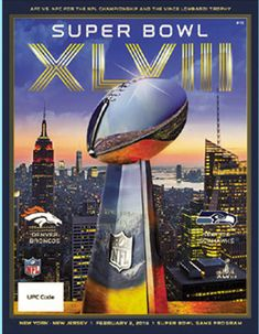 Here's the program.  #Broncos vs #Seahawks in Super Bowl XLVIII.  No need to fly to #NYC. You can own it now.