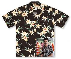 Star Orchid Black Tom Selleck Magnum PI Hawaiian Shirt 4XL XXXXL #ParadiseFound #hawaiianshirt