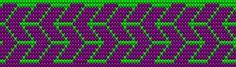 Patrón del porta hilo zig-zag