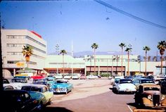 THOSE CARS! An early photo of CBS Columbia Square on Sunset Blvd. Check out the Hollywood Sign in the background. The view is looking north. Used Cars And Trucks, New Trucks, Vintage Photographs, Vintage Photos, 1940s, West Columbia, Used Car Parts, Vintage Landscape, Automobile