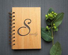 Custom Wood Bound Notebook - Alder Wood Cover Notebook - Spiral Journa by Tri~Elegance #trielegance