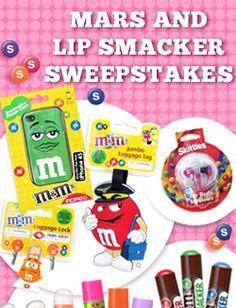 Click here to win a Mars and Lip Smackers Sweepstakes!  http://seniordealnews.com/contests/win-lip-smackers-mars-pack/?lipsmackers  *Expires March 31, 2013*