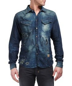 Western shirt in indigo Sale - Prps Goods & Co