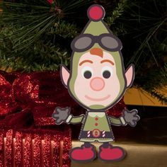 "Cutie Lanny is ""So Tinsel!"" Set him up somewhere with a good vantage point so he can prepare for Santa's arrival!"