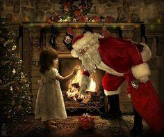 Christmas in County Laois, Ireland Merry Christmas, Christmas Scenes, Vintage Christmas Cards, Santa Christmas, Christmas Pictures, Winter Christmas, Magical Christmas, Xmas Holidays, Father Christmas