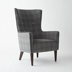 "Going a little 'Mad Men' at home with modern plaid and vintage styles.   ""Add Modern Plaid to Your Pad"" from apartment therapy."