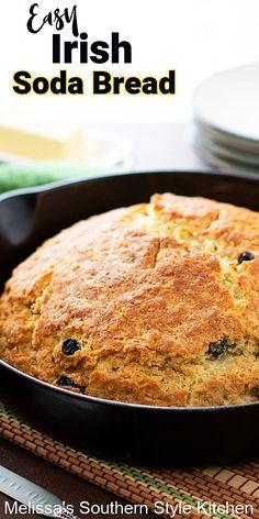 Easy Soda Bread Recipe, Bread Recipes, Cooking Recipes, Irish Recipes, Southern Recipes, Cheese Babka Recipe, Irish Bread, No Yeast Bread, Yeast Rolls