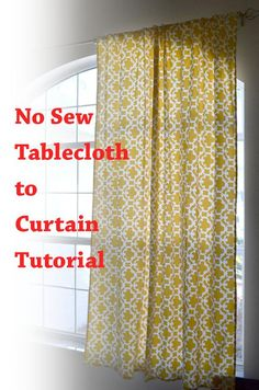 DIY Tutorial: DIY Curtains / DIY No Sew Curtains from a Tablecloth - Bead&Cord