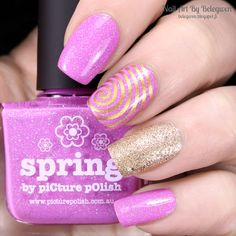 Nail Art by Belegwen: Picture Polish Spring and Lumene Sandy Brook