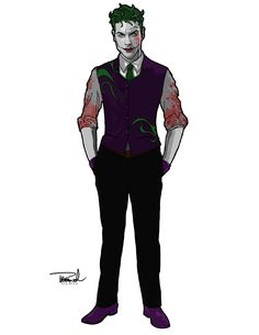 This is one of the best designs for the Joker I've ever seen. He looks like the worst kind of psychopath.