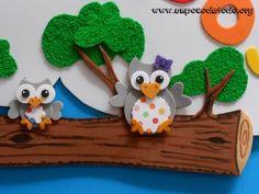 www.unpocodetodo.org - Cartel bienvenidos de buhos - Carteles - Goma eva - animales - animals - bienvenidos - buho - crafts - manualidades - owl - welcome - 4