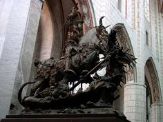 Saint George and the Dragon by Bernt Notke, St. Catherine's Church, Lübeck