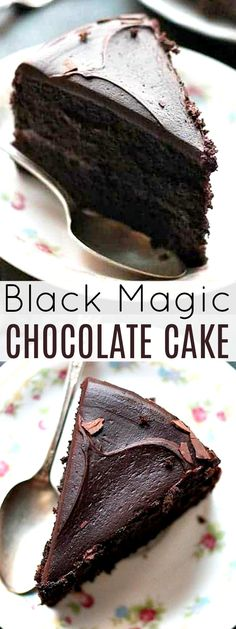 Moist, rich, and delicious dark chocolate cake that's SO easy to make and always turns out amazing!! Black Magic Chocolates, Magic Chocolate Cake, Cupcake Cakes, Cupcakes, Best Comfort Food, Mac And Cheese, No Bake Desserts, Baking Recipes, Cooking Recipes