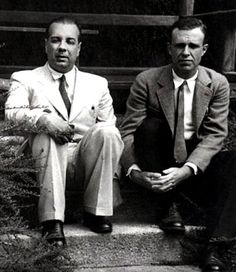 Jorge Luis Borges y Adolfo Bioy Casares, grandes escritores argentines. Two of Argentina's best writers.
