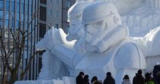 Japanese Army Uses 3,500 Tons Of Snow To Create Massive Star Wars Sculpture For Snow Festival | Bored Panda