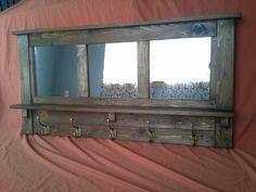 coat rack wall coat rack mirrored coat rack rustic by LilBitRustic
