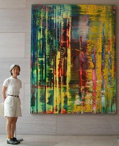Large Painting by Gerhard Richter – Malerei Abstract Painters, Abstract Canvas, Large Painting, Oil Painting On Canvas, Gerhard Richter Painting, Contemporary Abstract Art, Claude Monet, Pablo Picasso, Land Scape