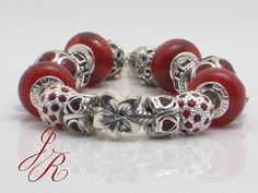 Love Bracelet  - .925 Silver Charm Bead Bracelet Creation by ReginasDreamCreation on Etsy, $540.00