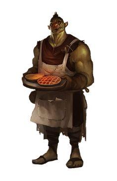 m Half Orc chef cook npc tavern inn urban