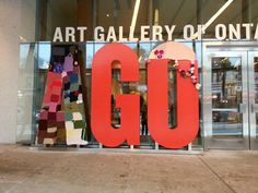 The Art Gallery of Ontario has officially been yarn bombed!