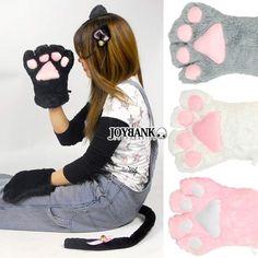The Nekomimi Cat Full Set ~ BLACK $25.00 http://thingsfromjapan.net/nekomimi-cat-full-set-black/ #nekomimi cat cosplay #kawaii cat cosplay #kawaii Japanese cosplay