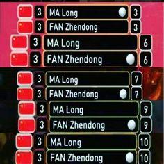 Why Ma Long vs Fan Zhendong is always close! Always the best match!  #tabletennis #bestmatch #malong #fanzhendong