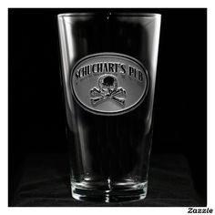 Skull and Bones Personalized Pint Glass