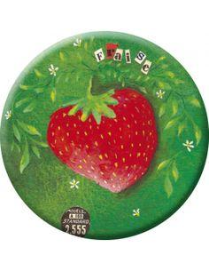"Izou badge (45 mm) ""Strawberry"""