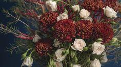 This styled bouquet harkens to a winter wonderland. Collage, Garden Styles, Special Events, Snow Globes, Flower Arrangements, Floral Design, Presents, Concept, Winter Wonderland