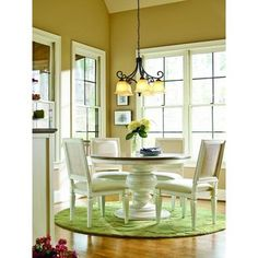 Shop for Summer Hill Complete Round Dining Table in Cotton Finish. Get free shipping at Overstock.com - Your Online Furniture Outlet Store! Get 5% in rewards with Club O! - 18558814